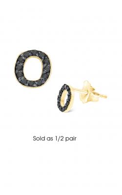 KC Designs Diamond Single Initial Earrings E3171BK-O product image