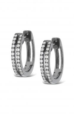 KC Designs Diamond Double Row Mini Hoop Earrings E6767 product image