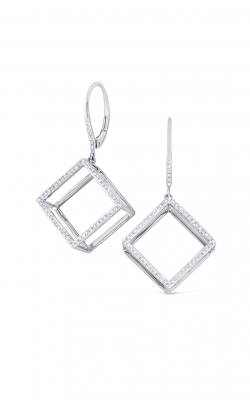 KC Designs Gold and Diamond Cube Earrings E7788 product image