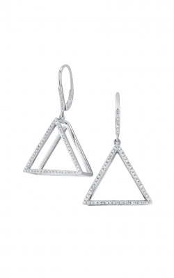 KC Designs Gold and Diamond Mod Triangle Earrings E7791 product image