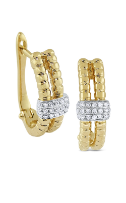 KC Designs 14K Gold and Diamond Textured Earrings E1012 product image