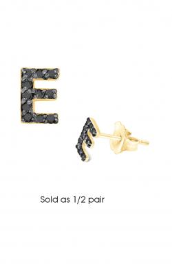 KC Designs Diamond Single Initial Earrings E3171BK-E product image