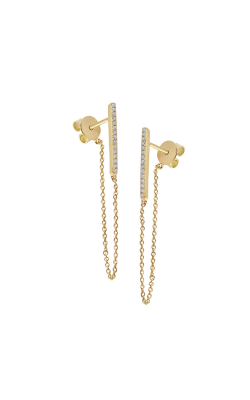 KC Designs 14K Gold and Diamond Chain Earrings E1019 product image