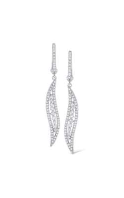 KC Designs 14K Gold and Diamond Wave Earrings E1057 product image