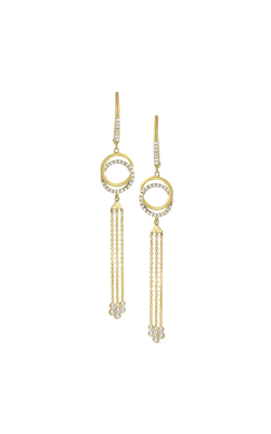 KC Designs 14K Gold and Diamond Double Circle Earrings E9802 product image