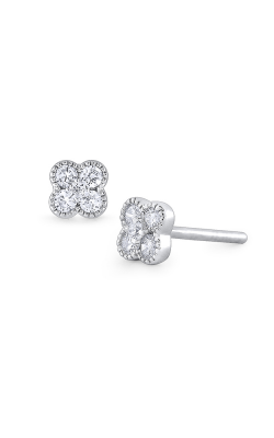 KC Designs 14K Gold and Diamond Flower Earring E1179 product image