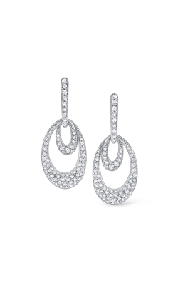 KC Designs 14K Gold and Diamond Double Oval Earrings E9768 product image