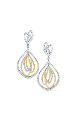 KC Designs 14K Gold and Diamond Leaf Earrings E9778 product image