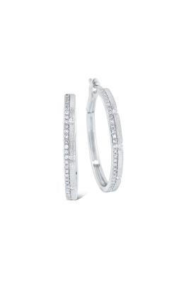 KC Designs Diamond Hoop Earrings E1074 product image