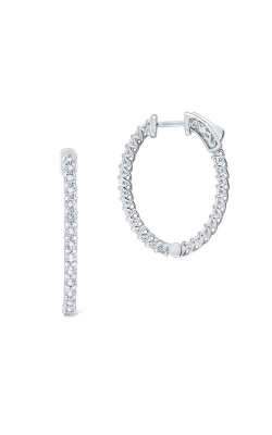 KC Designs Diamond Hoop Earrings E1088 product image