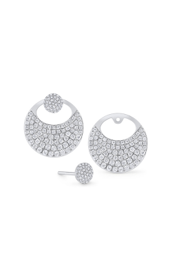 KC Designs 14K Gold and Diamond Round Earring Jacket E1211 product image