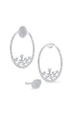 KC Designs 14K Gold and Diamond Oval Earring Jackets E1200 product image