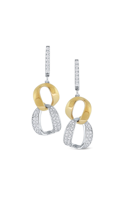 KC Designs 14K Gold and Diamond Modern Link Earrings E9780 product image