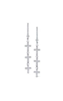 KC Designs 14K Gold and Diamond Triple Cross Earrings E1123 product image