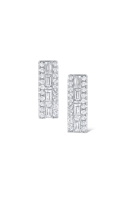 KC Design Rectangular Mosaic Diamond Stud Earring E3196 product image