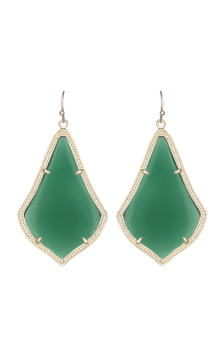 Kendra Scott Earrings Alexandra Gold Green Translucentglass product image