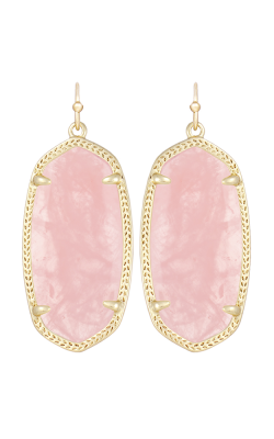 Kendra Scott Earrings Elle Gold Rose Quartz product image
