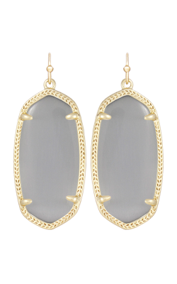 Kendra Scott Earrings Elle Gold Slate Catseye product image