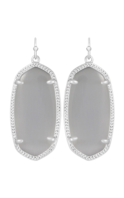 Kendra Scott Earrings Elle Rhodium Slate Catseye product image