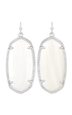 Kendra Scott Earrings Elle Rhodium Whitemop product image