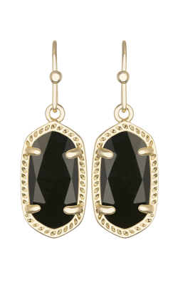 Kendra Scott Earrings Lee Gold Black Opaqueglass product image