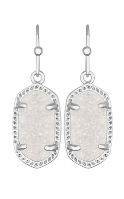Kendra Scott Earrings Lee Rhodium Iridescent Drusy product image