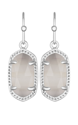 Kendra Scott Earrings Lee Rhodium Slate Catseye product image