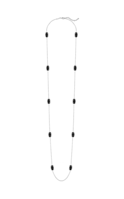 Kendra Scott Necklaces Kelli Rhodium Black Opaqueglass product image