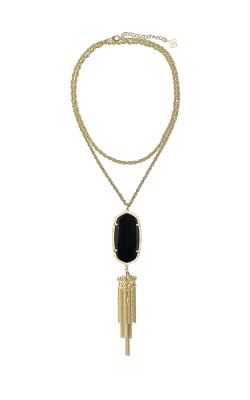 Kendra Scott Necklaces Rayne Gold Black Opaqueglass product image