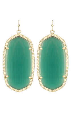 Kendra Scott Earrings Danielle Gold Emerald product image