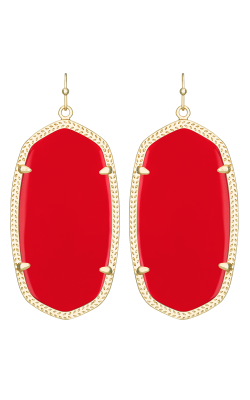Kendra Scott Earrings Danielle Gold Bright Red product image