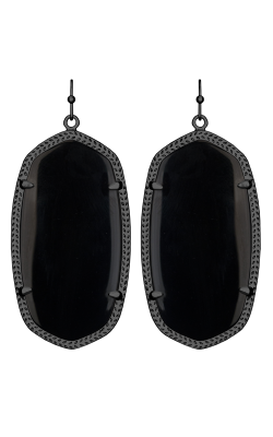 Kendra Scott Earrings Danielle Gunmetal Black product image