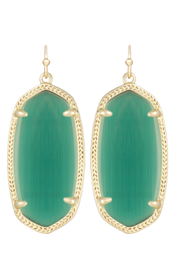 Kendra Scott Earrings Elle Gold Emerald product image