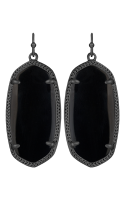 Kendra Scott Earrings Elle Gunmetal Black product image