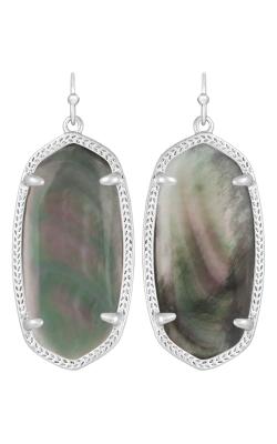 Kendra Scott Earrings Elle Rhodium Black MOP product image