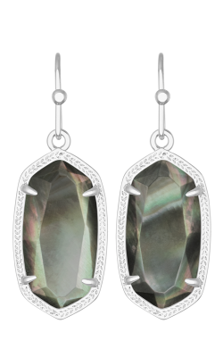 Kendra Scott Earrings Dani Rhodium Black MOP product image