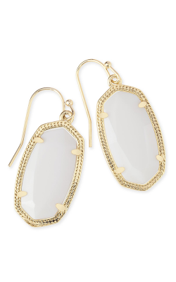 Kendra Scott Earrings Dani Gold White Kyocera Opal product image