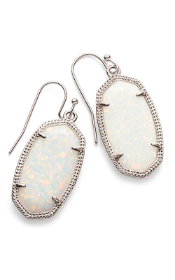 Kendra Scott Earrings Dani Rhodium White Opal product image