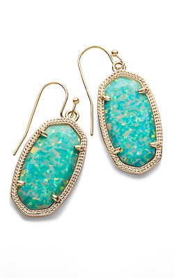 Kendra Scott Earrings Dani Gold Aqua Kyocera Opal product image