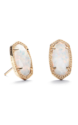 Kendra Scott Earrings Ellie Gold White Kyocera Opal product image