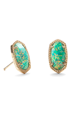 Kendra Scott Earrings Ellie Gold Aqua Kyocera Opal product image