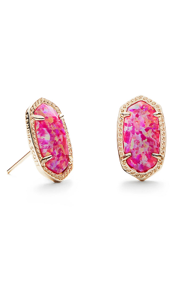 Kendra Scott Earrings Ellie Gold Fuchsia Kyocera Opal product image