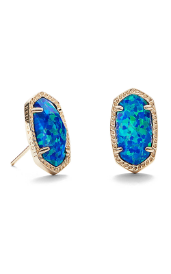 Kendra Scott Earrings Ellie Gold Royal Blue Kyocera Opal product image