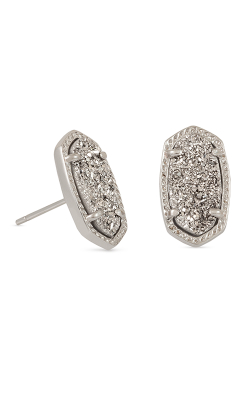 Kendra Scott Earrings Ellie Rhodium Platinum Drusy product image