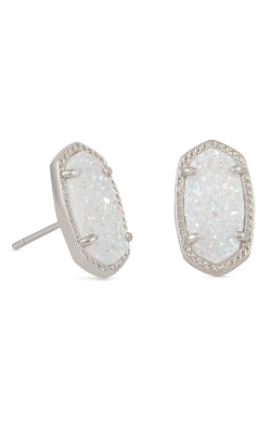 Kendra Scott Earrings Ellie Rhodium Iridescent Drusy product image