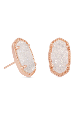 Kendra Scott Earrings Ellie Rose Gold Iridescent Drusy product image