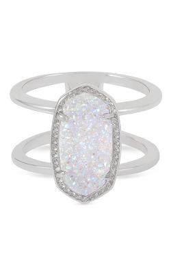 Kendra Scott Fashion Rings Elyse Rhodium Iridescent Drusy product image