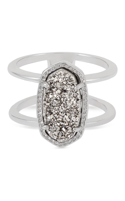 Kendra Scott Fashion Rings Elyse Rhodium Platinum Drusy product image