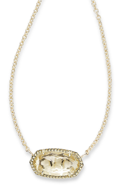Kendra Scott Necklaces Elisa Gold Clear Crystal product image