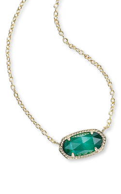 Kendra Scott Necklaces Elisa Gold Emerald product image